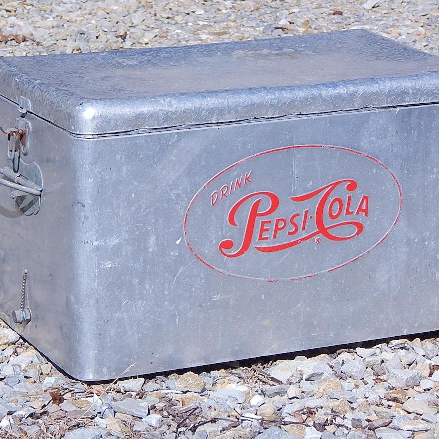 Vintage Aluminum Pepsi Cooler