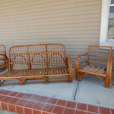 project patio furniture art decomodern bamboo sofa and chairs art deco outdoor furniture