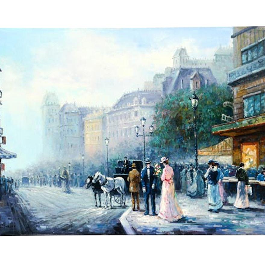 E. Gilbert Alla Prima Oil Painting