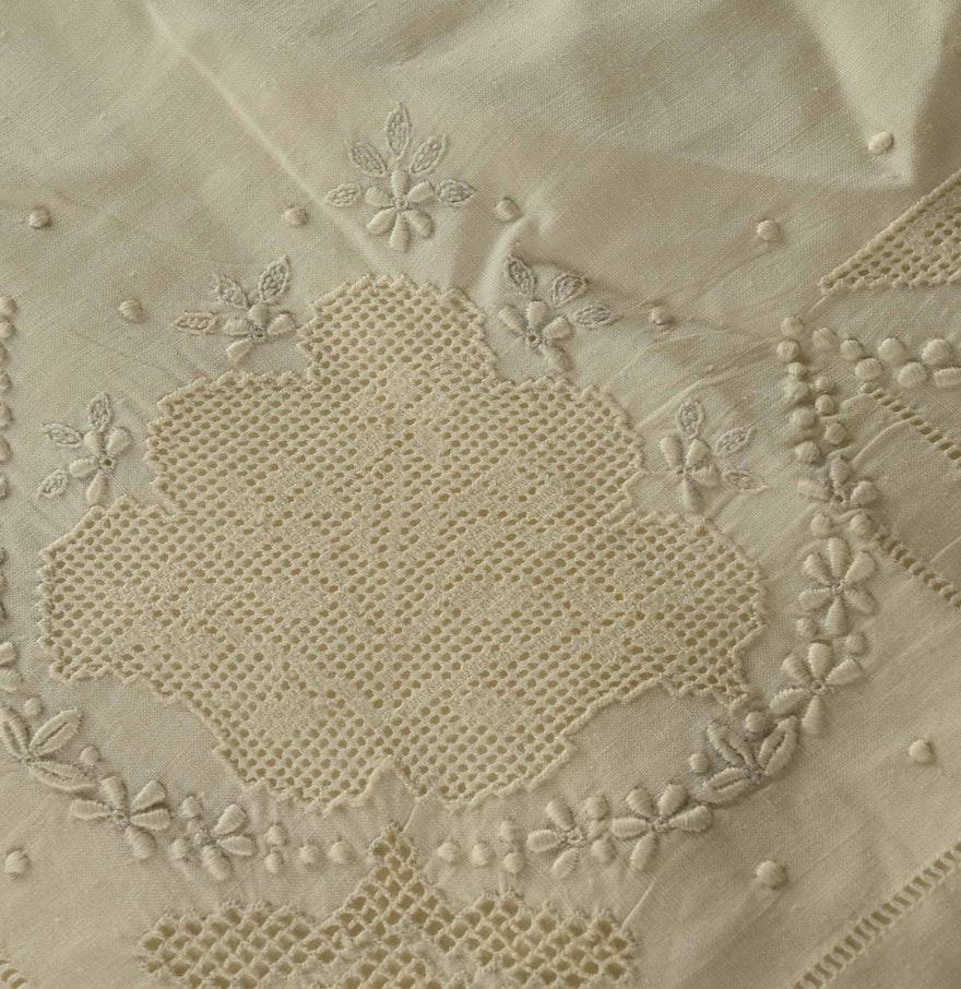 Antique European Duvet Cover Sheet And Sham EBTH