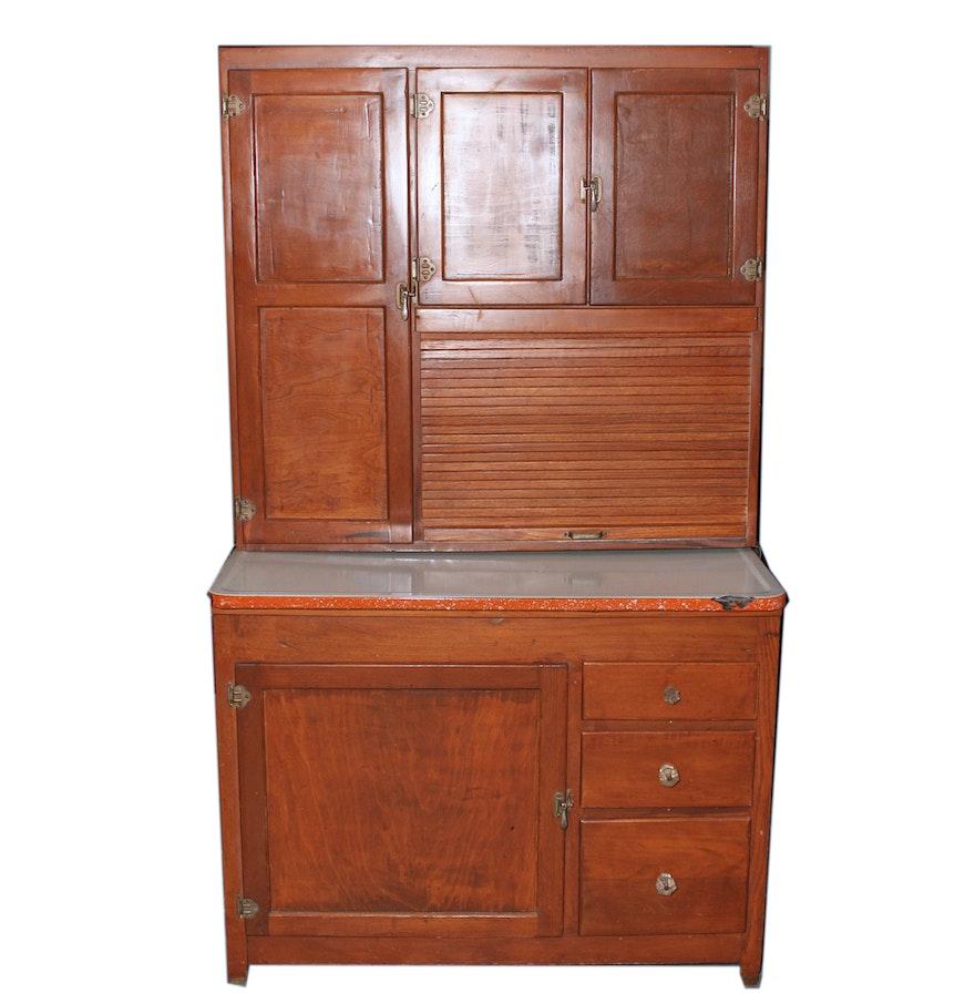 Hoosier Kitchen Cabinet: Hoosier Kitchen Cabinet Circa 1925 : EBTH