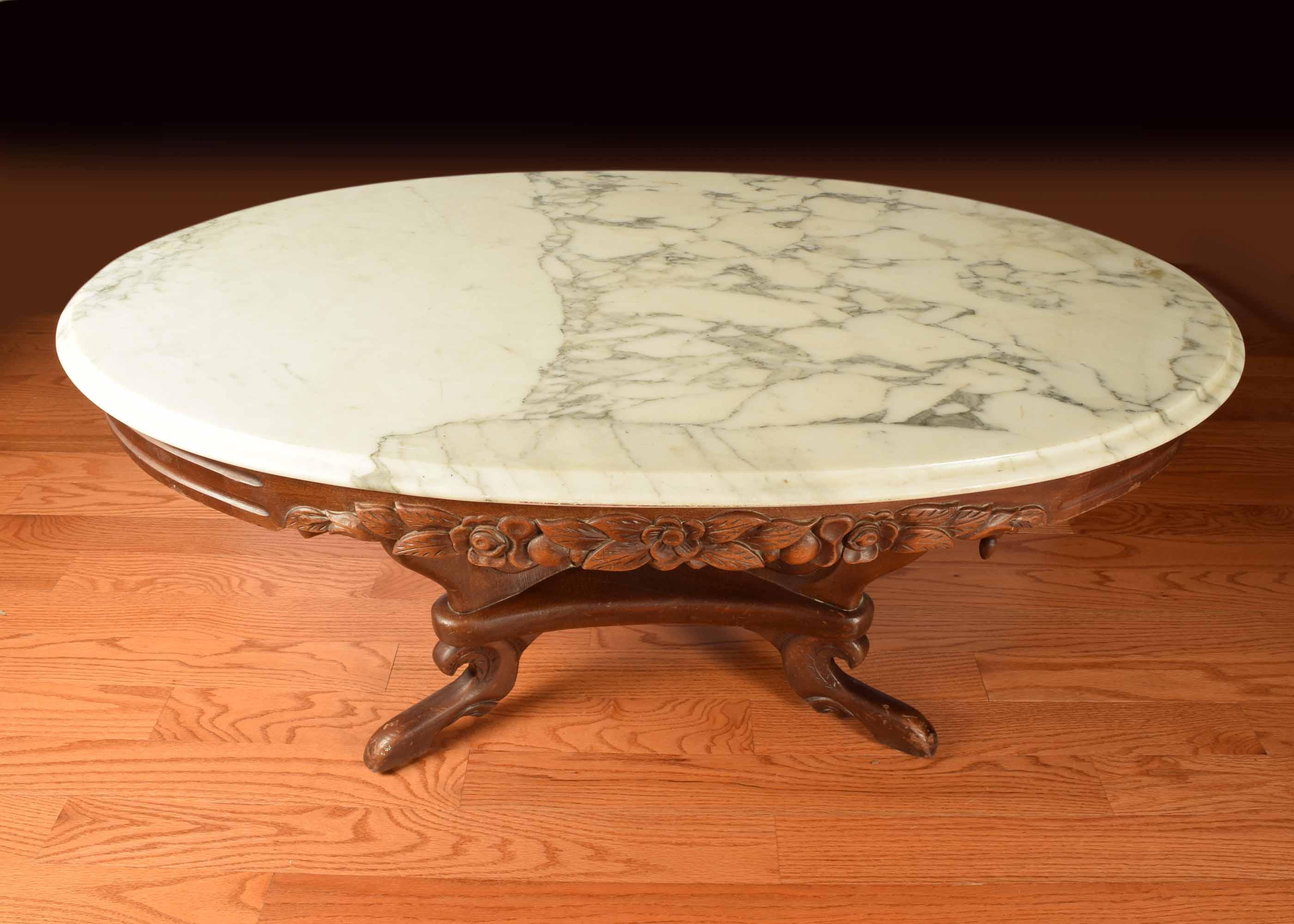 Marble Top Victorian Coffee Table EBTH