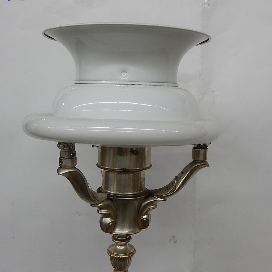 Silver Colonial Premier Company Floor Lamp Ebth