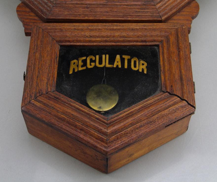 Vintage Coca Cola Wooden Regulator Clock Ebth