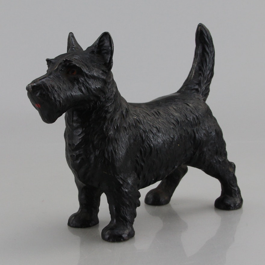 Vintage Cast Iron Scottie Dog Door Stop ... - Vintage Cast Iron Scottie Dog Door Stop : EBTH