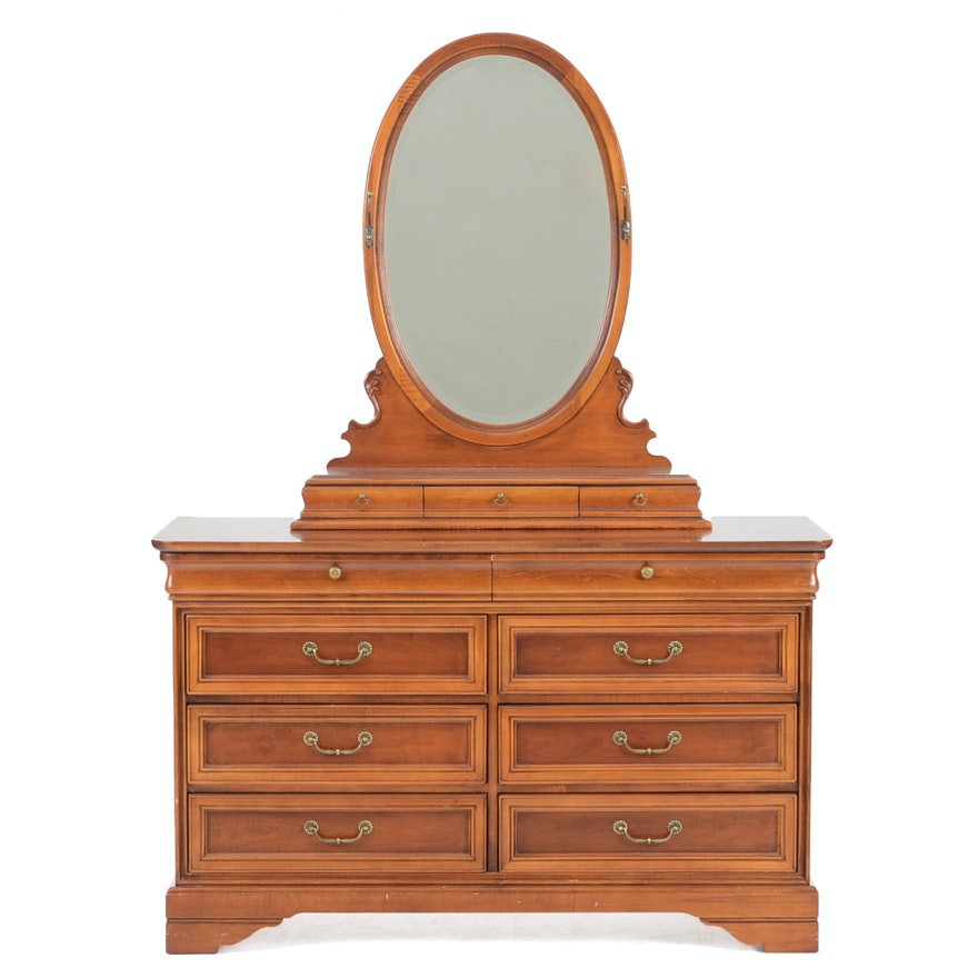 Lexington Cherry Chest of Drawers with Mirror