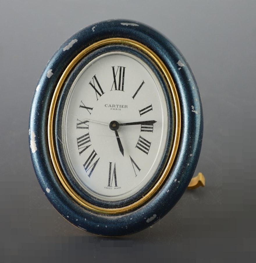 Cartier paris oval desk alarm clock ebth cartier paris oval desk alarm clock amipublicfo Images