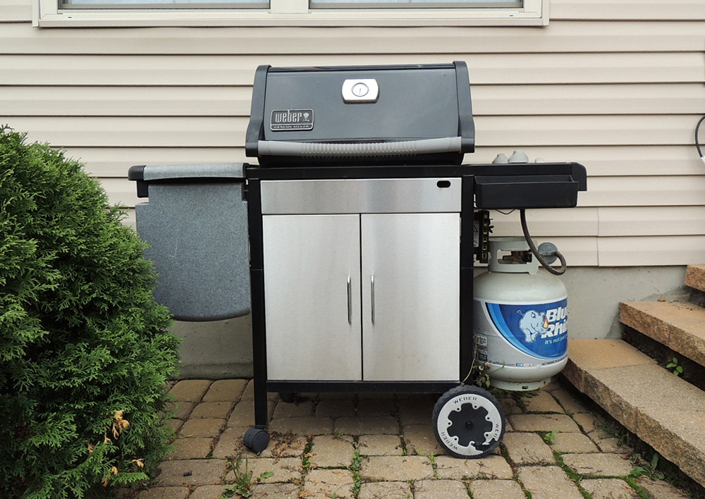weber genesis silver gas grill w cover