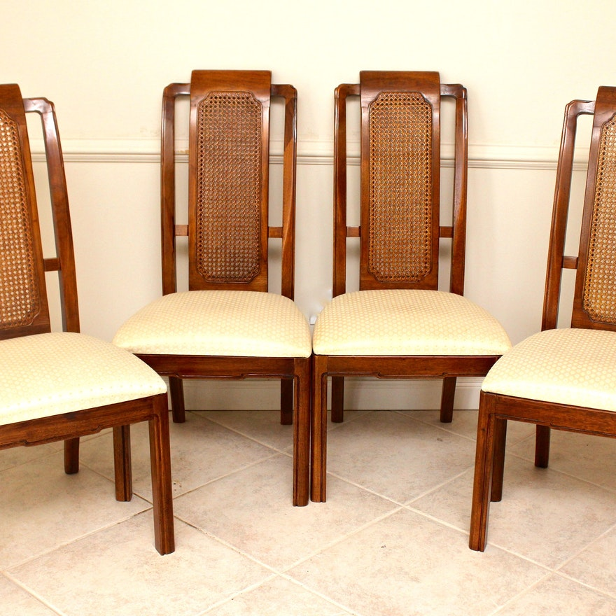 Four Cane Back Thomasville Mystique Collection Dining Chairs