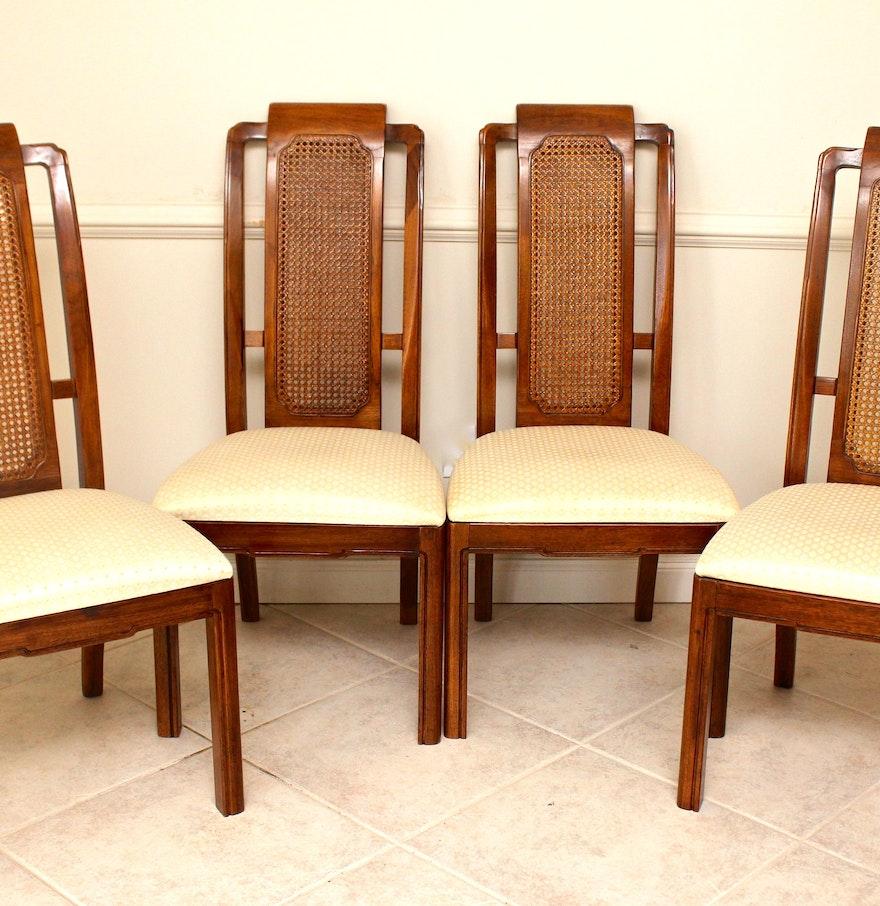 Four Cane Back Thomasville Mystique Collection Dining Chairs EBTH – Thomasville Dining Chairs