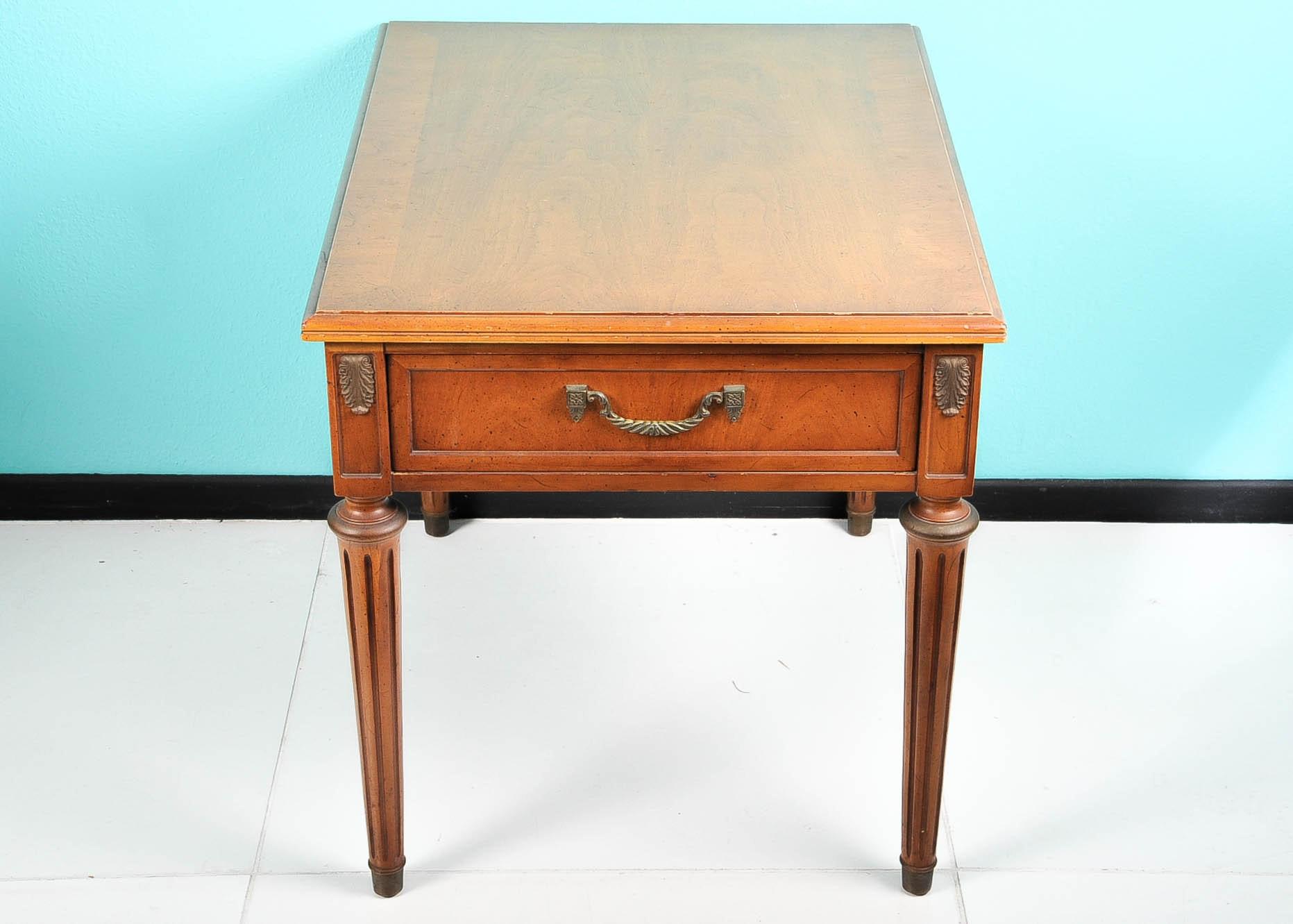 Vintage Henredon Fine Furniture End Table ...