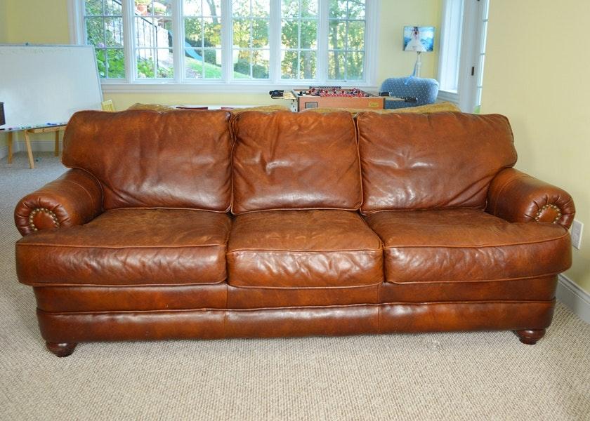 Distinctions Saddle Leather Sofa ...