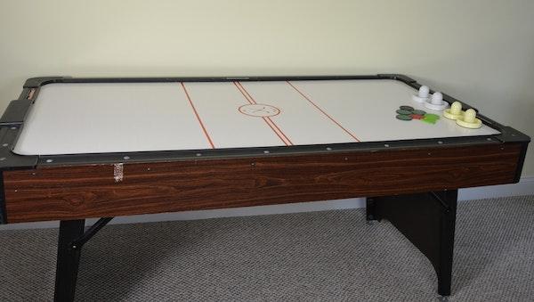 Brunswick 6 39 air hockey table ebth - Brunswick air hockey table ...