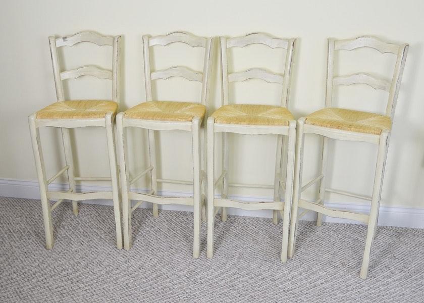 Ballard Designs Stools ballard designs french country rush seat bar stools : ebth
