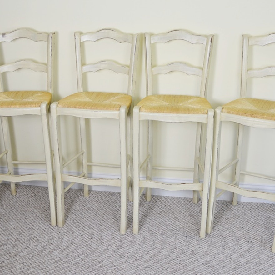 Swell Ballard Designs French Country Rush Seat Bar Stools Caraccident5 Cool Chair Designs And Ideas Caraccident5Info