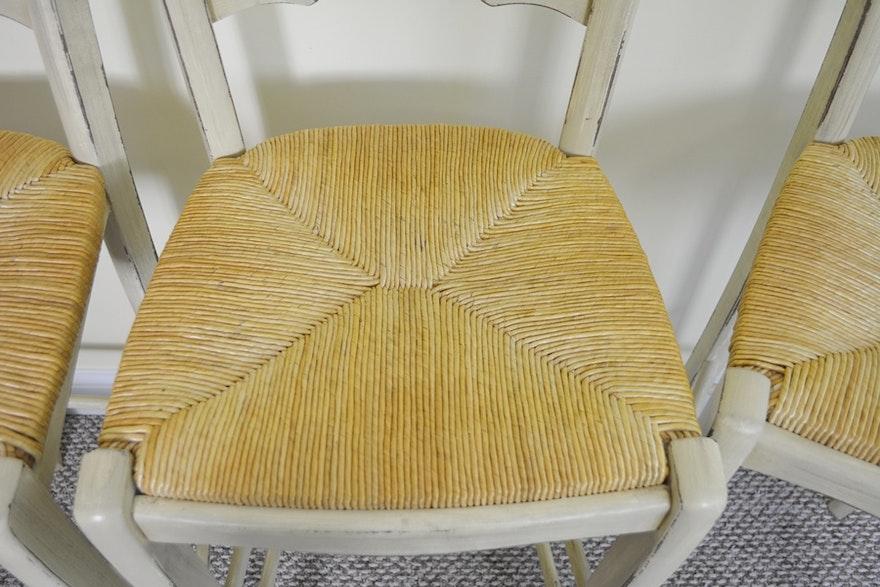 Ballard Designs French Country Rush Seat Bar Stools | EBTH