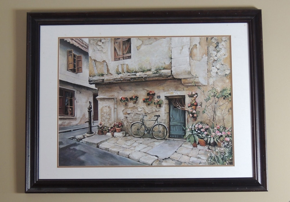 Roger Duvall Offset Print \ Doorway of Tuscany\  ... & Roger Duvall Offset Print \