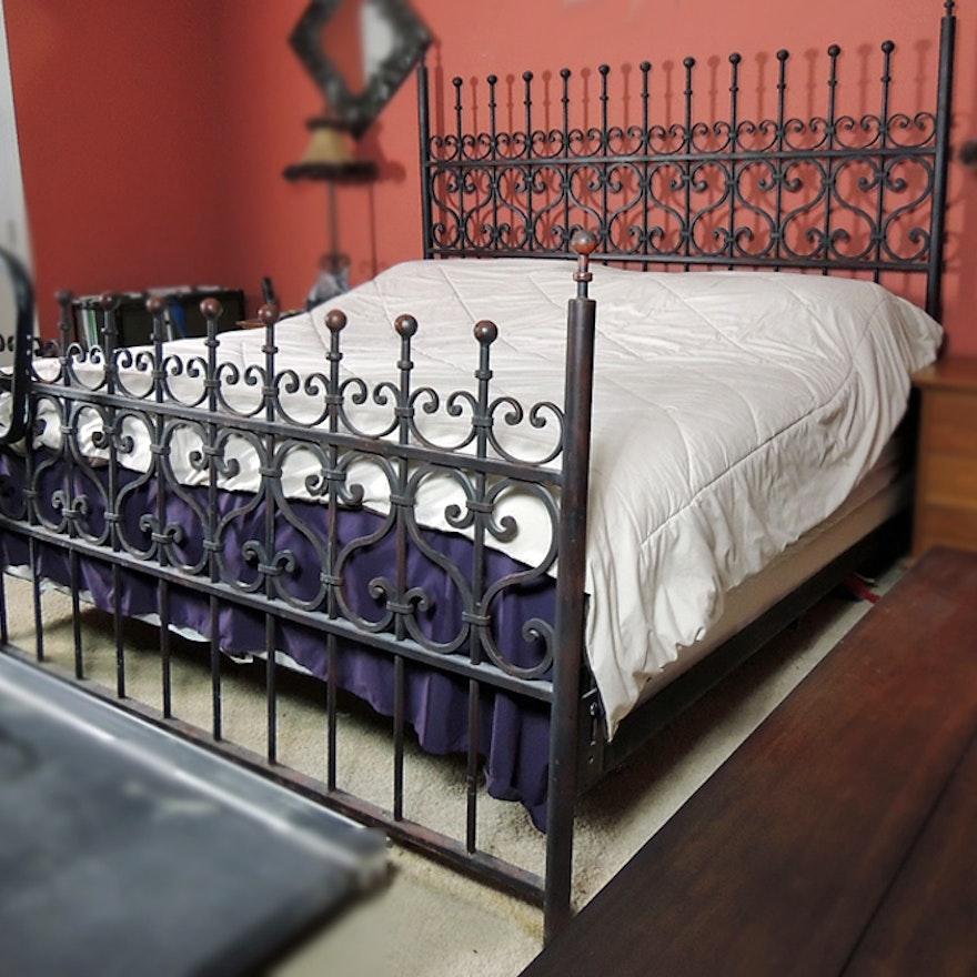 Arhaus King Size Wrought Iron Bed : EBTH