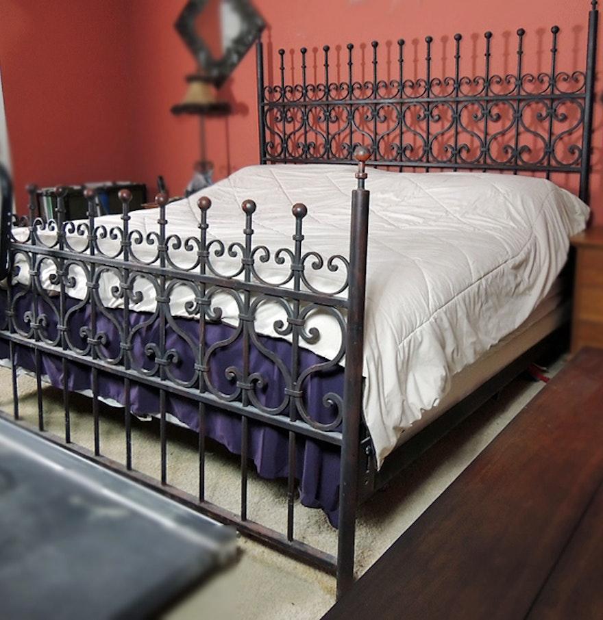 arhaus king size wrought iron bed - King Size Iron Bed Frame