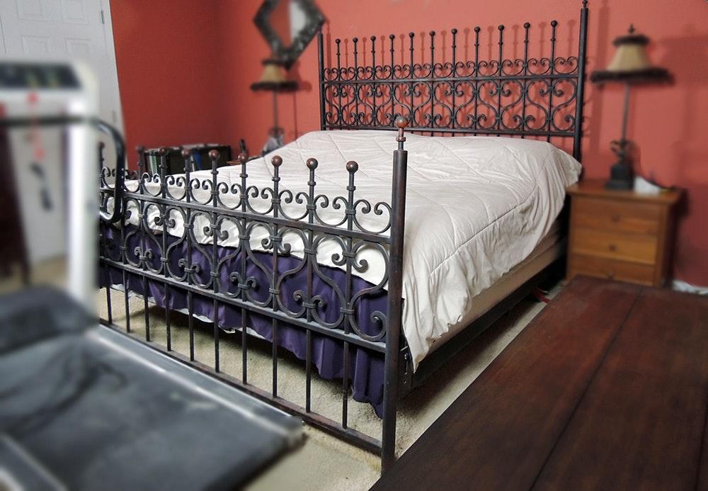arhaus king size wrought iron bed