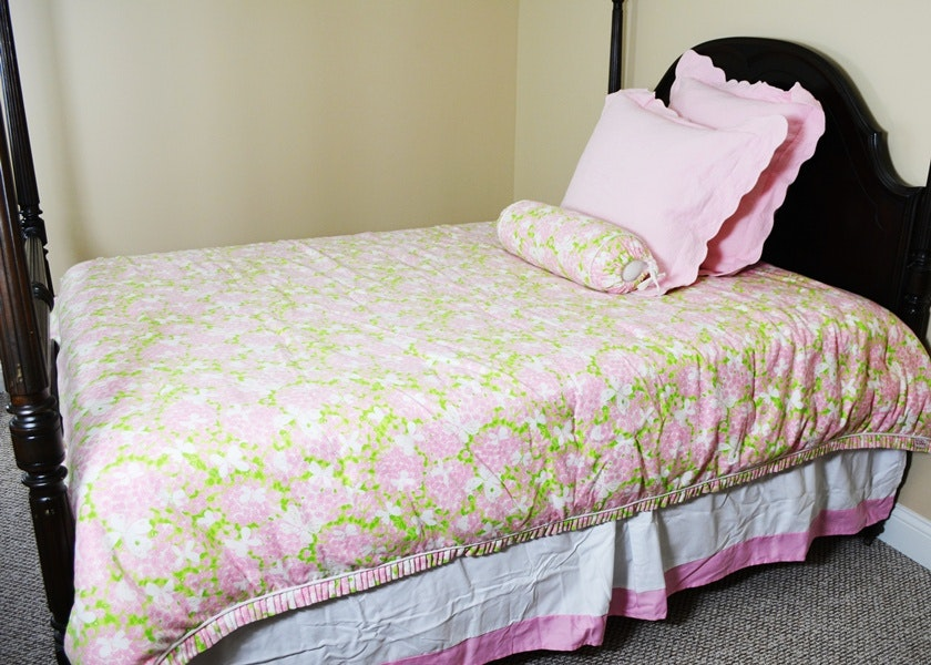Lilly Pulitzer Queen Floral Comforter, Bed Skirt, and ...