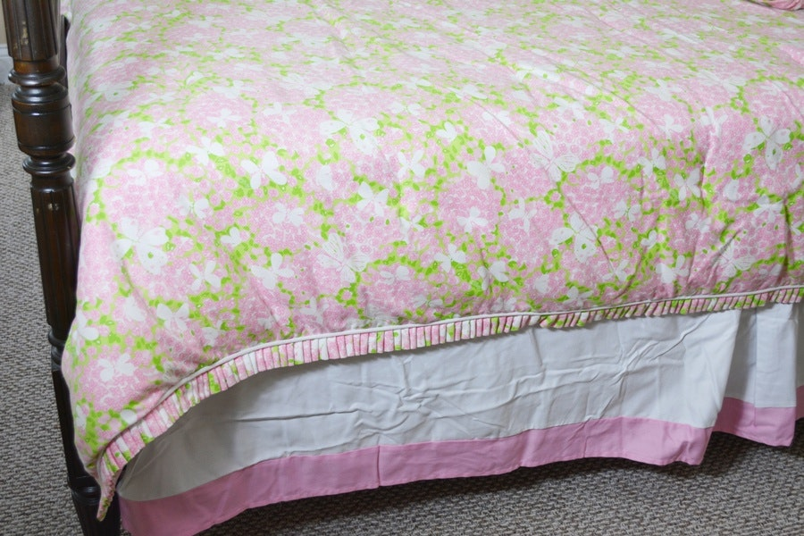 Lilly Pulitzer Queen Floral Comforter Bed Skirt And