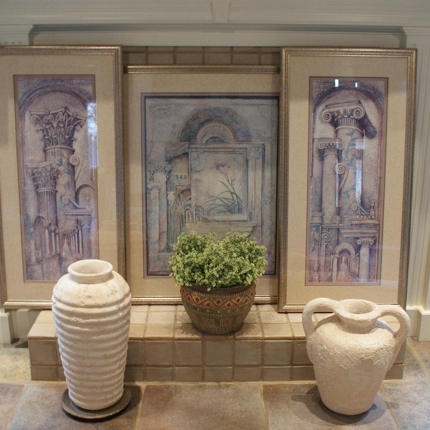 Grecian Decor Grouping Ebth