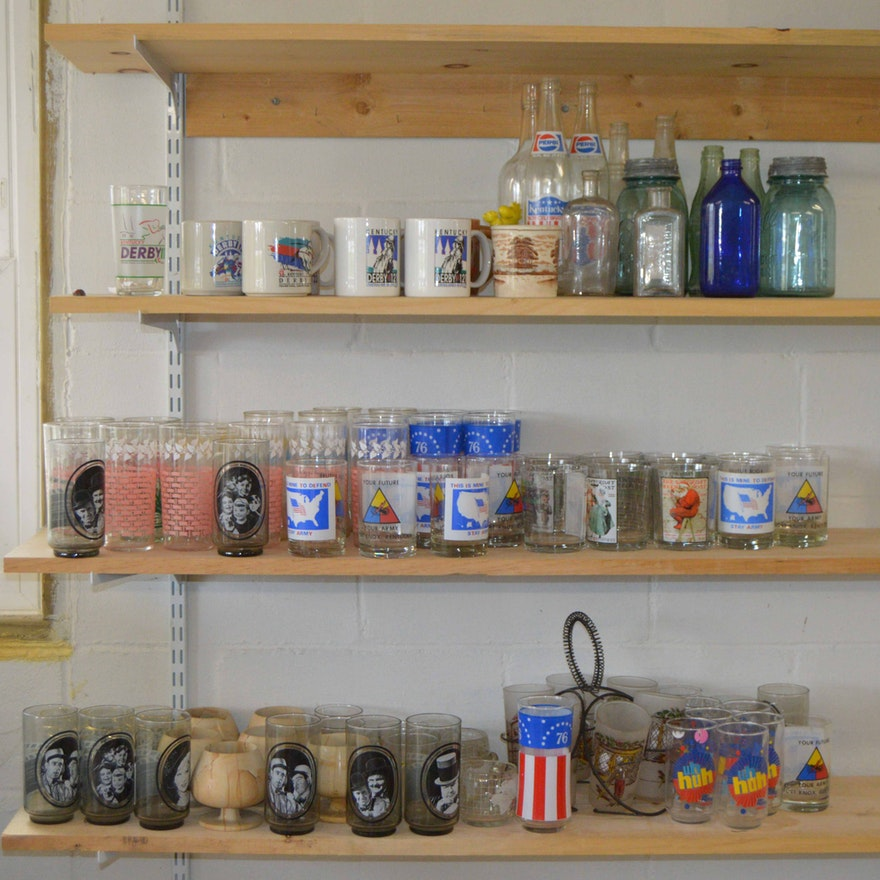 Decorative Cup and Bottle Collection