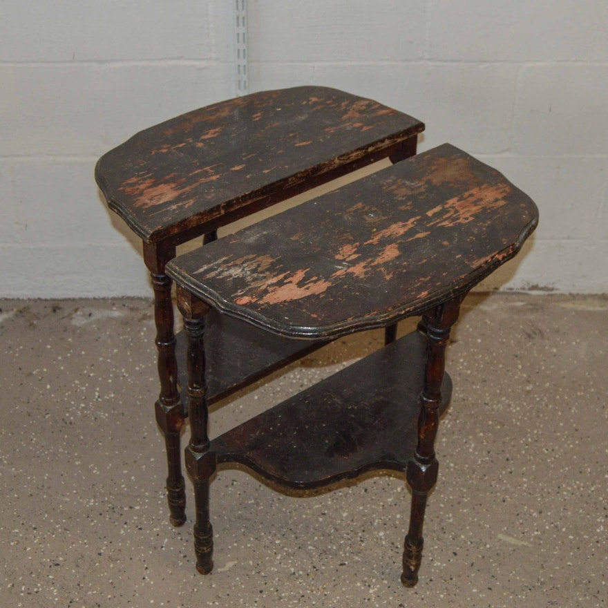 Two Cherry Side Tables