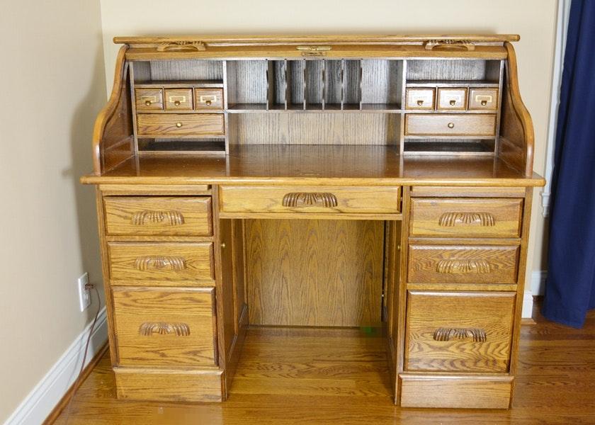 Eagle Industries Oak Rolltop Desk ...