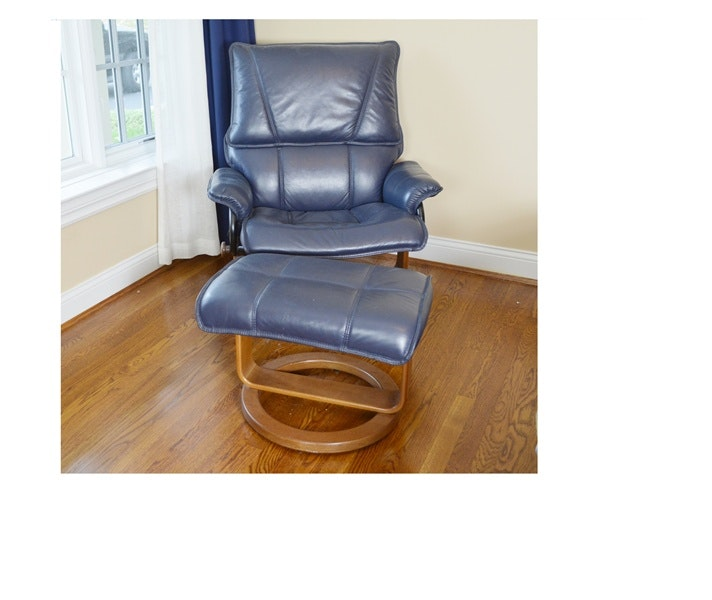 Attrayant Palliser Furniture Leather Reclining Chair And Ottoman ...