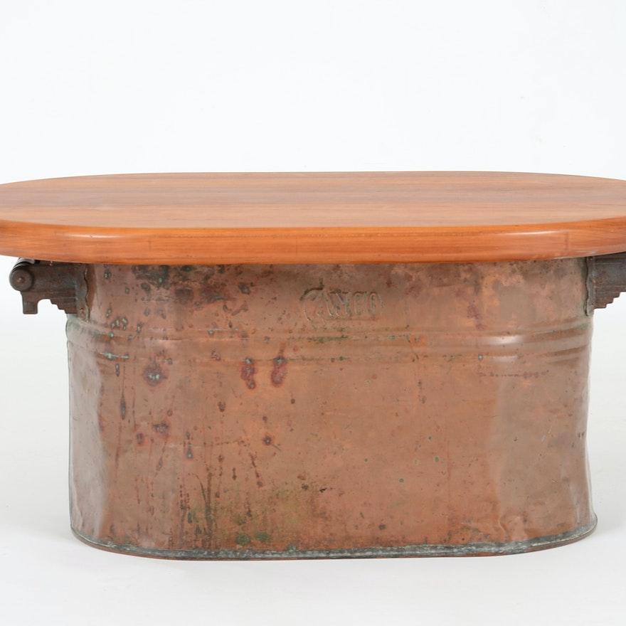 Canco Copper Boiler Table