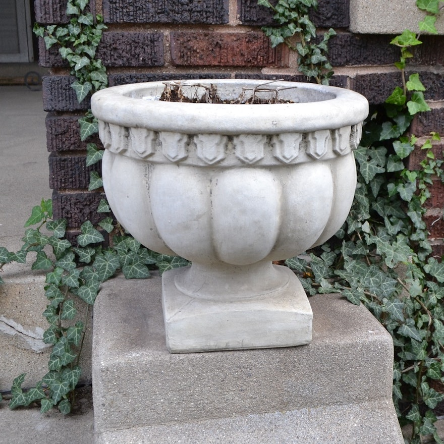 Two Small Concrete Urns