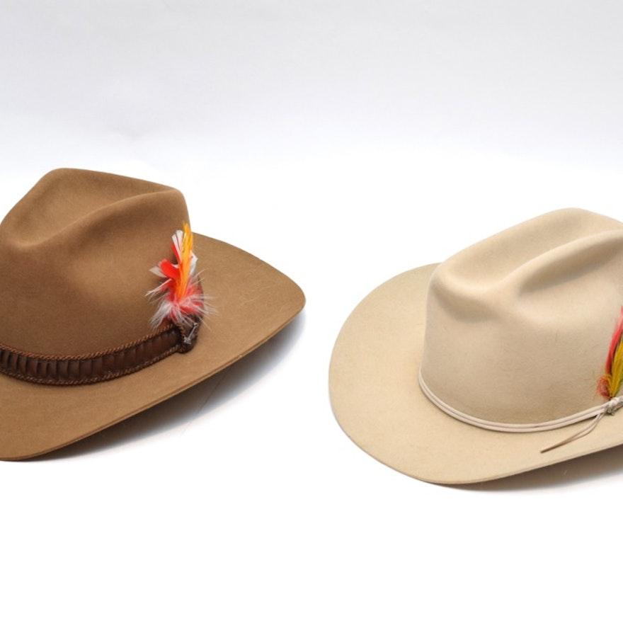 9391352fae0172 Pair of Stetson 4x Beaver Cowboy Hats : EBTH