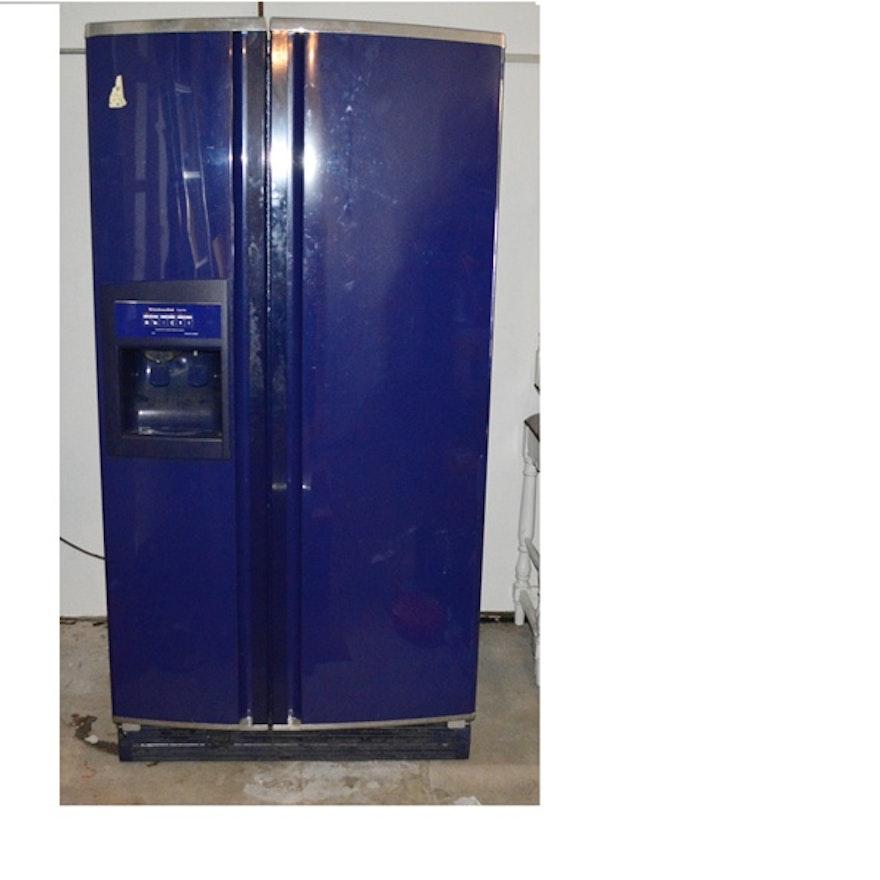 Cobalt Blue KitchenAid Side By Side Refrigerator : EBTH on
