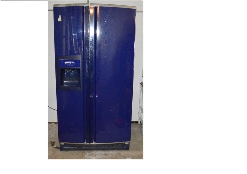 Cobalt Blue KitchenAid Side By Side Refrigerator ...