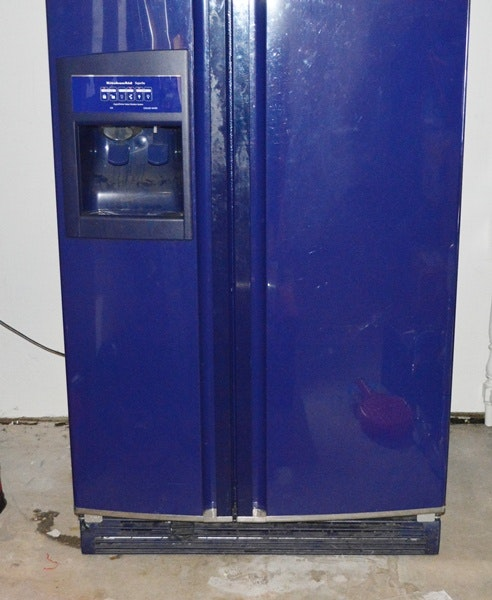 Cobalt Blue Kitchenaid Side By Side Refrigerator Ebth