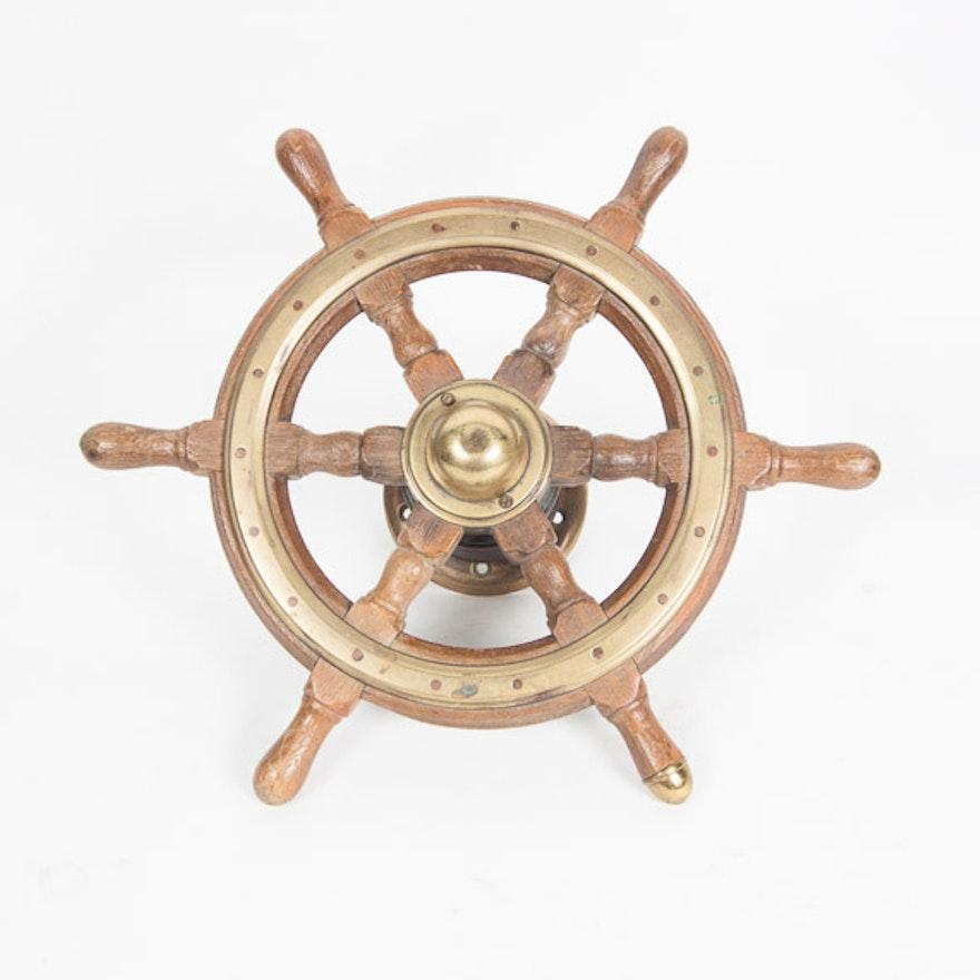 Authentic Sailboat Wheel