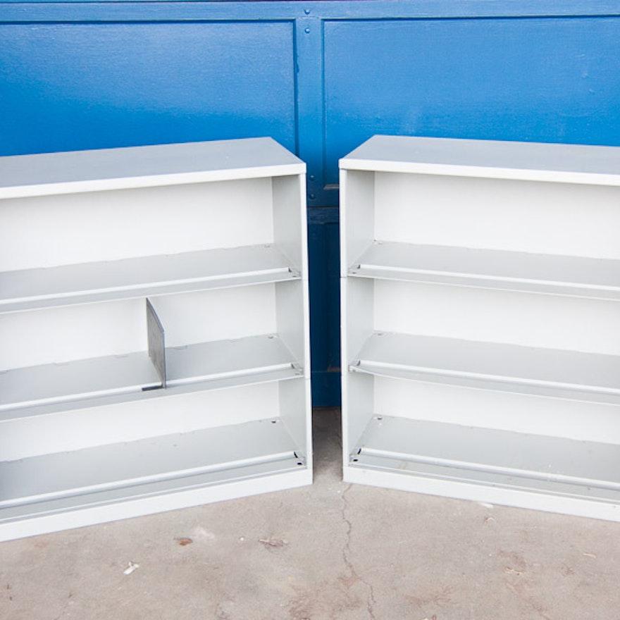 Pair of Industrial Shelves