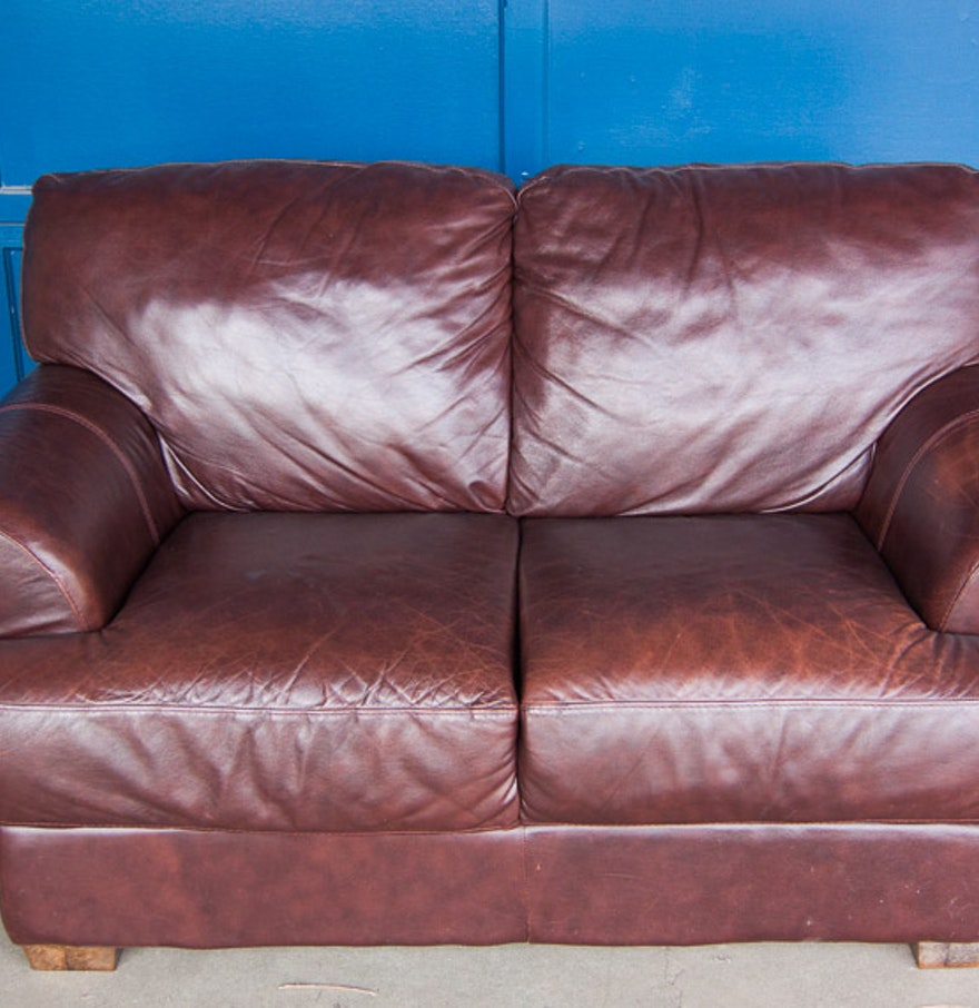 Divani chateau d ax leather sofa - Divani Chateau D Ax Italian Leather Loveseat