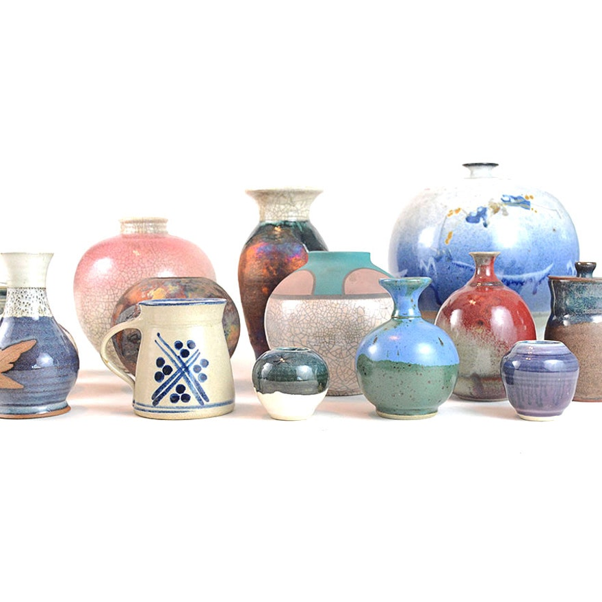 Decorative Handmade Ceramic Vases By Various Artists : EBTH on handmade pottery, handmade bangles, handmade pet bowls, handmade plaques, handmade toys, handmade wallets, handmade glass bowls, handmade baskets, handmade boxes, handmade games, handmade pendants, handmade tiles, handmade jewelry, handmade tea bowls,