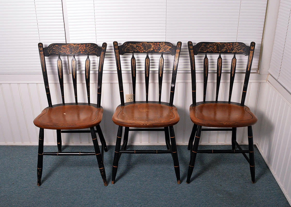 Early American Dining Room Furniture: Early American Style Dining Chairs : EBTH
