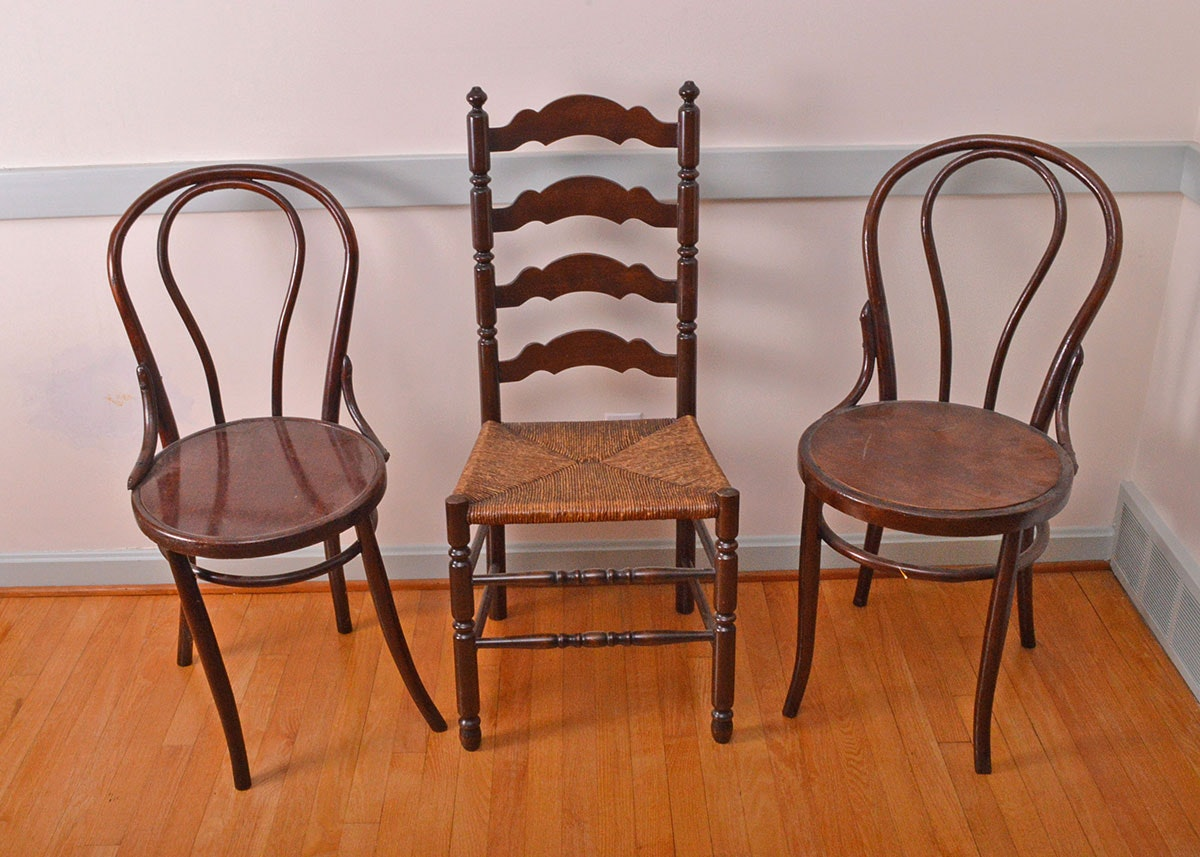 Thonet Style Bentwood And Ladderback Chairs ...