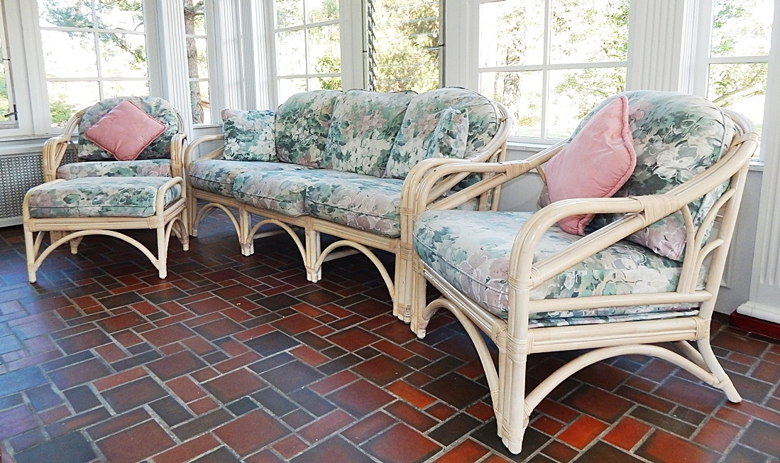 Wonderful Benchcraft Wicker And Rattan Sun Room Set ...
