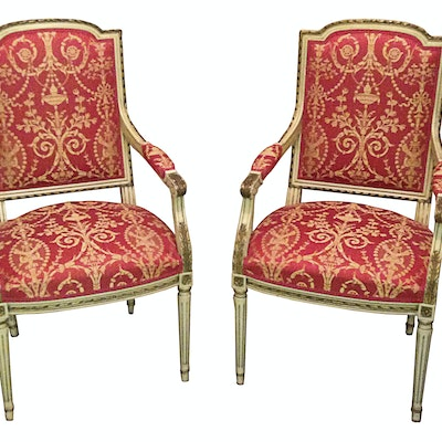 Late 19th Century French Louis XVI Style Armchairs - Online Furniture Auctions Vintage Furniture Auction Antique