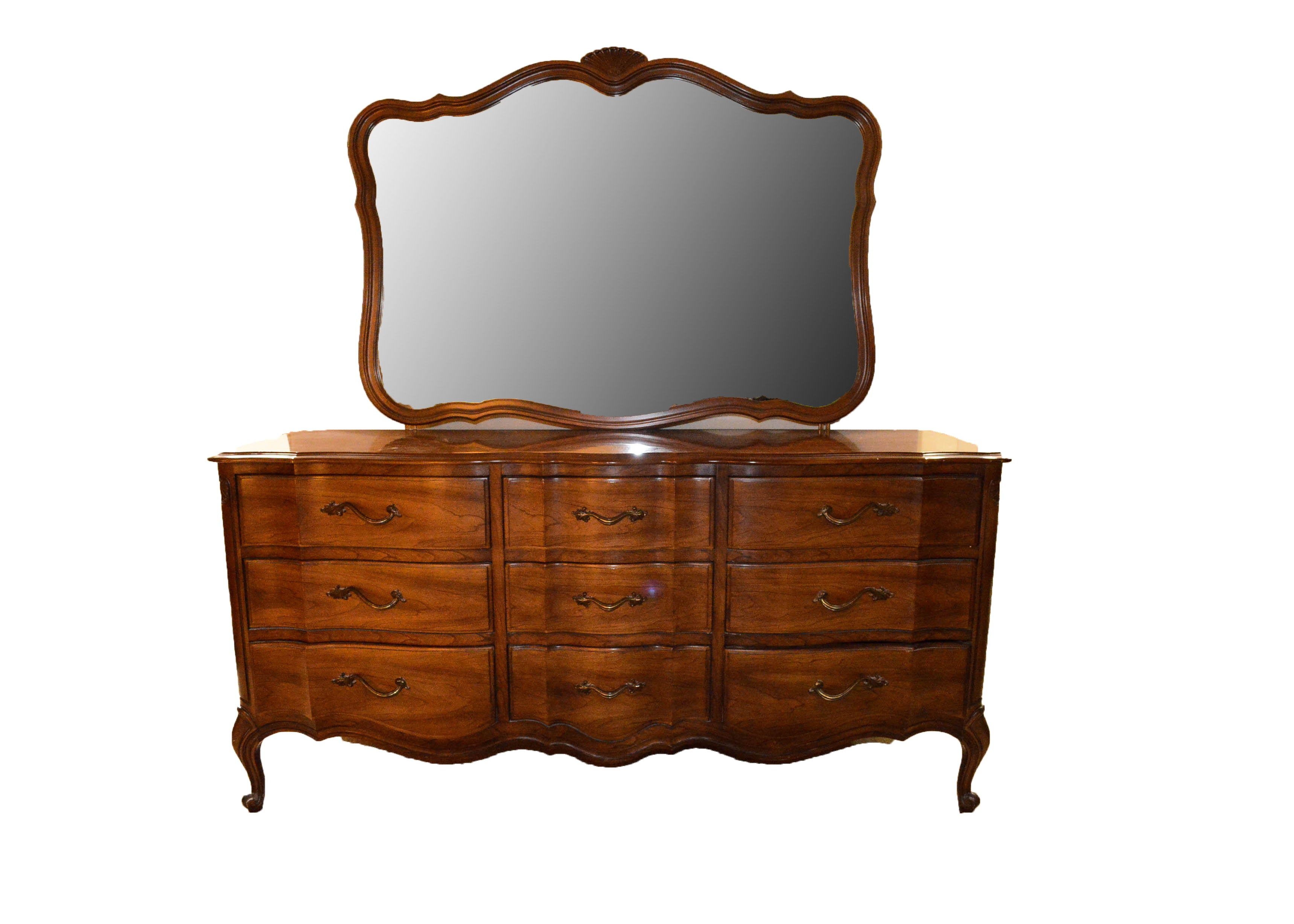 Captivating Vintage Broyhill Premier Dresser With Mirror ...