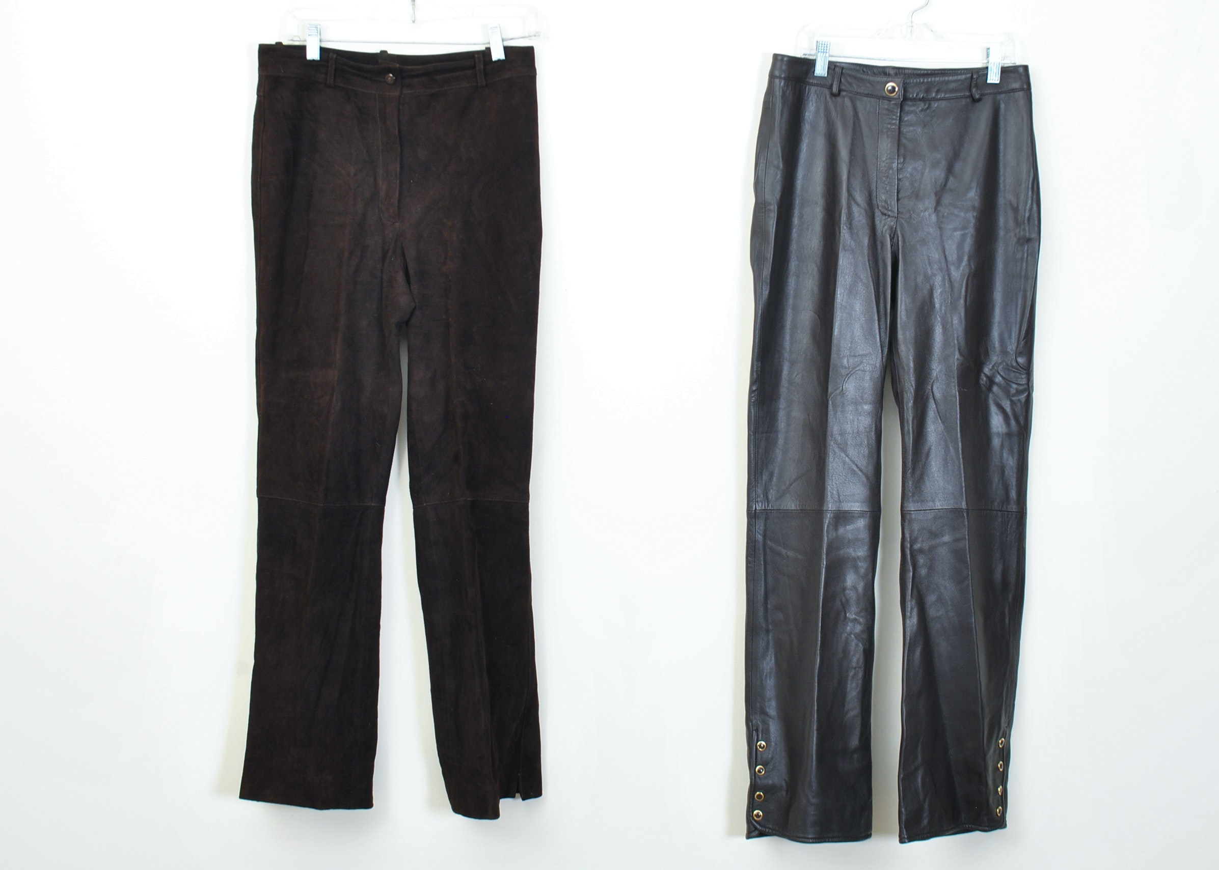 Popular Brown Leather Pants 90s Vintage Shiny From KatrajinaCo  KCO