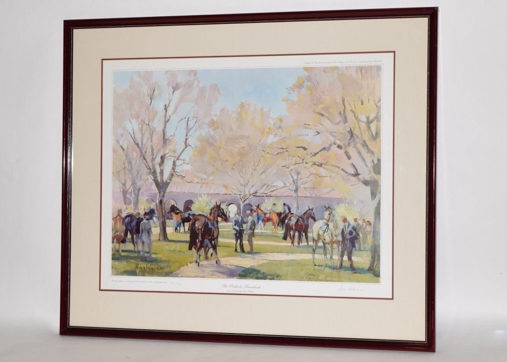 Peter Williams Offset Lithograph Quot The Paddock Keeneland
