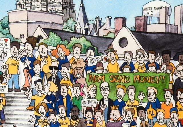 Vintage Notre Dame Football 88