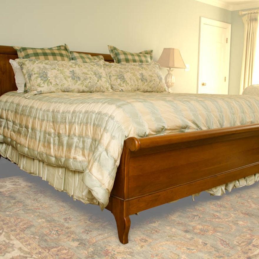 Ethan Allen King Size Chloe Bed